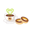 A coffee and doughnut vector image vector image