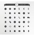 E-commerce Shop silhouette icons set vector image