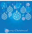 christmas background ball vector image vector image