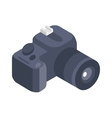 Photo camera 3d isometric icon isolated on vector image vector image