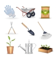 Gardening Decorative Icons Set vector image