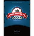 Soccer football vintage poster design vector image