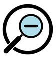 Zoom out magnifier icon Magnifying glass in a vector image