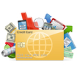 Business Concept with Credit Card vector image