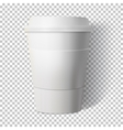 Coffee Cup Isolated on Transparent PS Style vector image