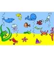 Cute Under the Sea Icon Set vector image