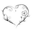 floral heart shape design vector image