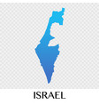 israel map in asia continent design vector image