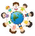 Kids of the world vector image
