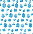 pattern of blue cakes vector image