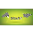 Racing Flags And Start Title vector image