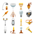 Lighting elements icon set vector image