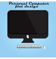 black monitor keyboard and mouse vector image