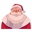 Santa Claus face angry facial expression vector image