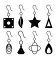 earrings icon set vector image