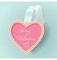 Valentines day vintage sticker vector image
