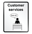 Customer Services Information Sign vector image vector image