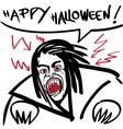 horror vampire vector image