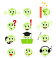 set of cool smilies vector image vector image