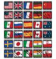 film strip flags vector image
