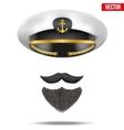 Symbol of the sea captain vector image