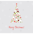 Christmas Tree Design Greeting Card vector image