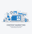 content marketing vector image