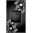 elegance floral frame vector image
