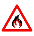 fire icon on white background vector image