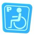Invalid parking icon cartoon style vector image