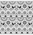 mexican folk art seamless pattern with bird vector image