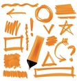 Set of Graphic Signs Arrows Circles vector image