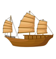 full rigged ship vector image