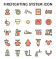 Fire system icon vector image