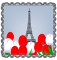 Eiffel tower photo vector image vector image