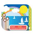 sea resort vector image