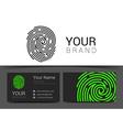 fingerprint logo template icon design elements vector image
