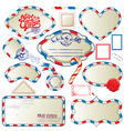 envelope frames xmas 380 vector image