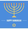 Hanukkah card template vector image