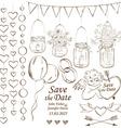 Set of wedding decoration elements vector image