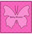 Baby-shower-butterfly-pink vector image vector image