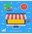 Concept online market vector image