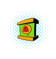 Stand advertising icon comics style vector image