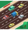 Highway Isometric vector image