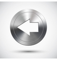 Chrome left button vector image vector image