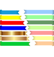 Colored tapes vector image