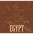 Egypt landmarks Retro styled image vector image