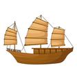 Full rigged ship vector image