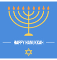 Hanukkah card template vector image