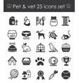 outline web icon set - pet vector image
